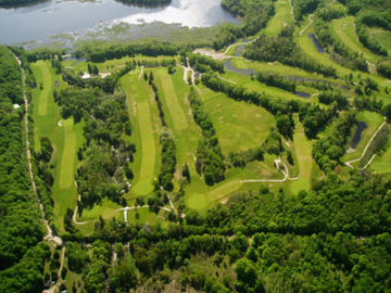 Aerial view of the Blairhampton Golf Club